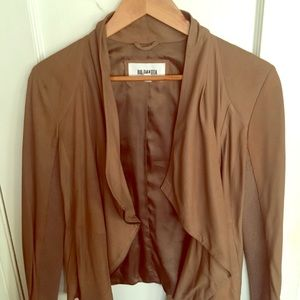 Camel Leather BB Dakota Side Zip Jacket